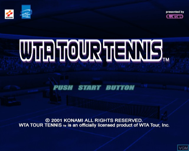 Title screen of the game WTA Tour Tennis on Sony Playstation 2