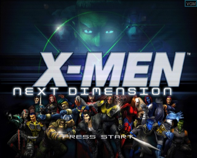 Title screen of the game X-Men - Next Dimension on Sony Playstation 2