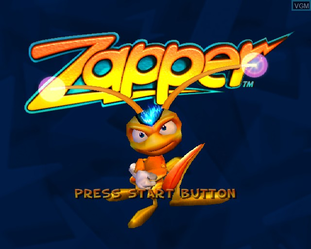 Title screen of the game Zapper on Sony Playstation 2
