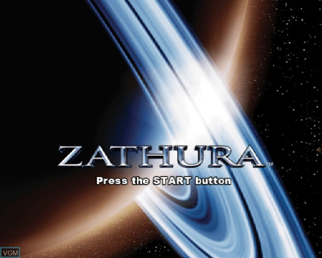 Title screen of the game Zathura on Sony Playstation 2