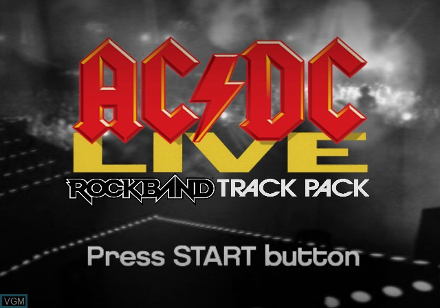 Title screen of the game AC/DC LIVE - Rock Band Track Pack on Sony Playstation 2
