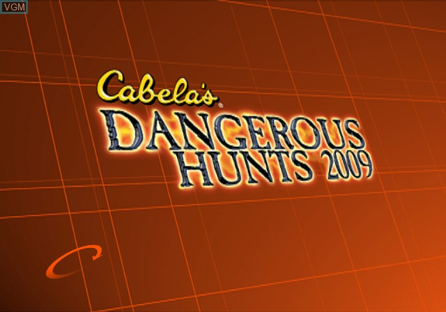Title screen of the game Cabela's Dangerous Hunts 2009 on Sony Playstation 2