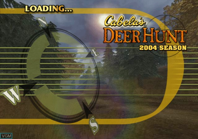 Title screen of the game Cabela's Deer Hunt 2004 Season on Sony Playstation 2