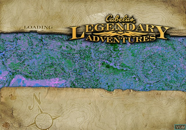 Title screen of the game Cabela's Legendary Adventures on Sony Playstation 2