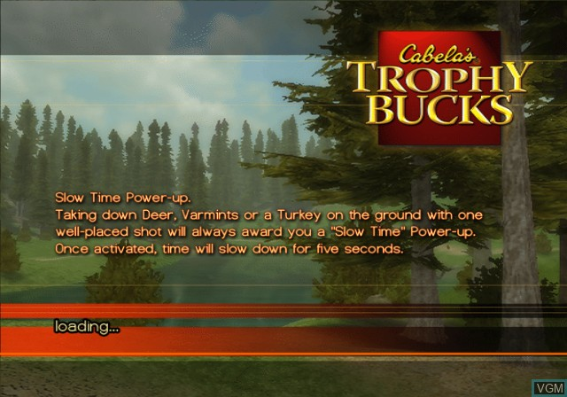 Title screen of the game Cabela's Trophy Bucks on Sony Playstation 2