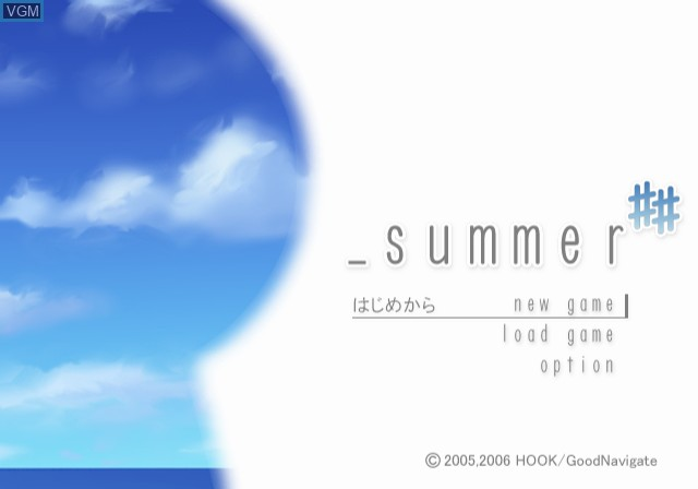 Title screen of the game _summer ## on Sony Playstation 2