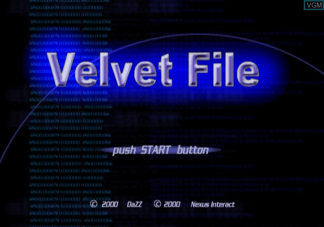 Title screen of the game Velvet File on Sony Playstation 2