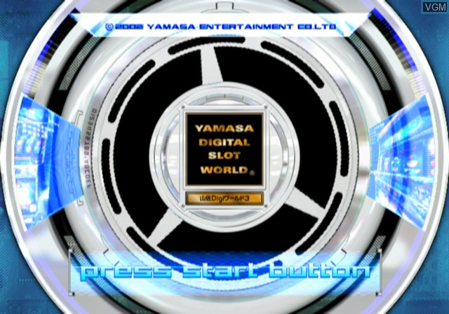Title screen of the game Yamasa Digi World 3 on Sony Playstation 2