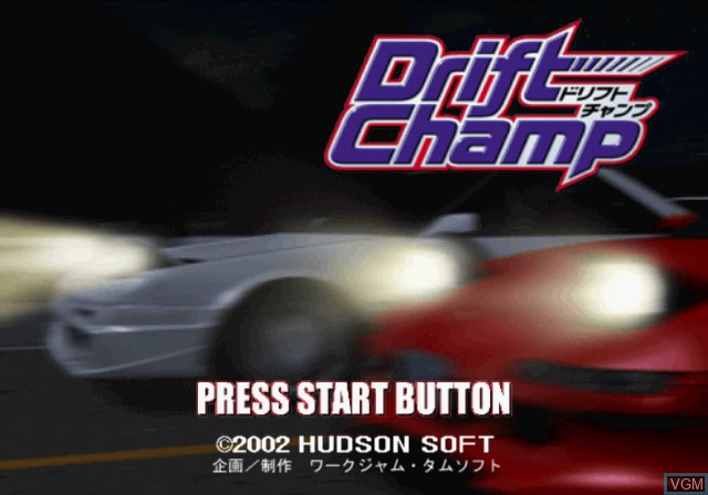 Title screen of the game Zero 4 Champ Series - Drift Champ on Sony Playstation 2
