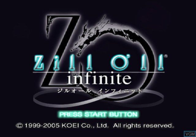 Title screen of the game Zill O'll Infinite on Sony Playstation 2