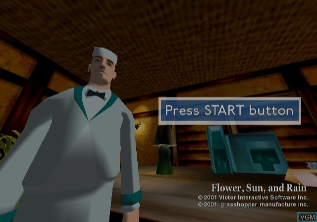 Title screen of the game Hana to Taiyou to Ame to on Sony Playstation 2