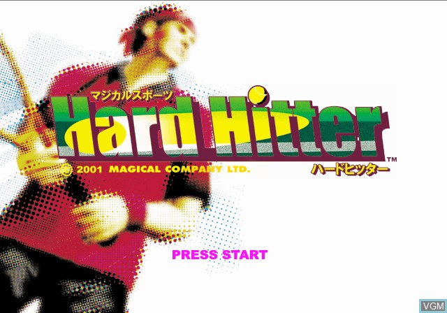 Title screen of the game Magical Sports - Hard Hitter on Sony Playstation 2