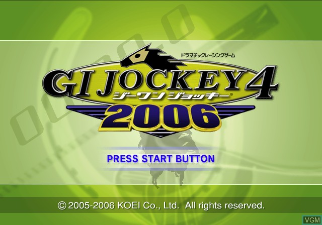 Title screen of the game G1 Jockey 4 2006 on Sony Playstation 2