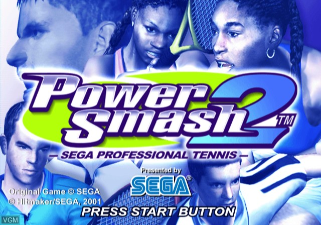Title screen of the game Power Smash 2 on Sony Playstation 2