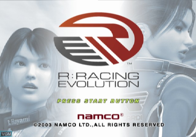 Title screen of the game R - Racing Evolution on Sony Playstation 2