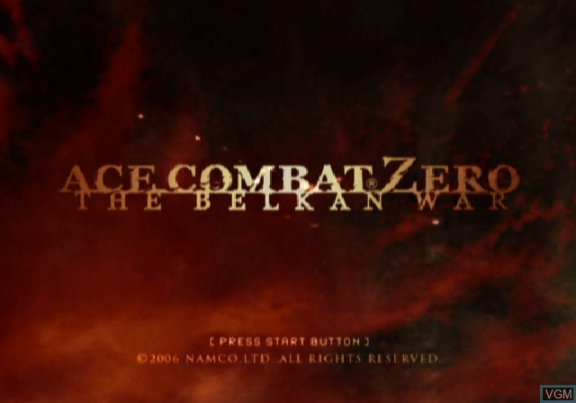 Title screen of the game Ace Combat Zero - The Belkan War on Sony Playstation 2