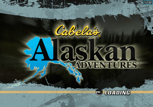 Title screen of the game Cabela's Alaskan Adventures on Sony Playstation 2