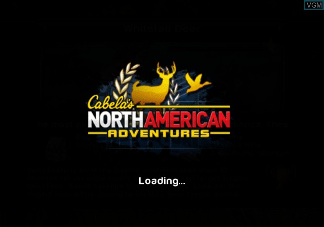 Title screen of the game Cabela's North American Adventures on Sony Playstation 2