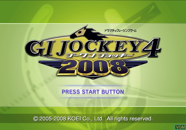 Title screen of the game G1 Jockey 4 2008 on Sony Playstation 2