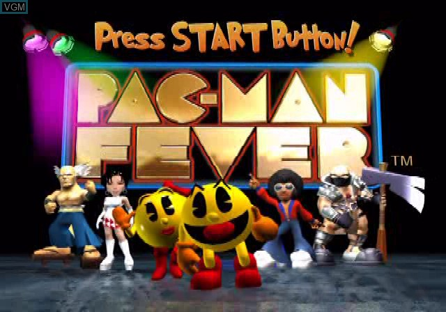 Title screen of the game Pac-Man Fever on Sony Playstation 2