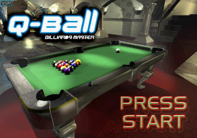 Title screen of the game Q-Ball - Billiards Master on Sony Playstation 2