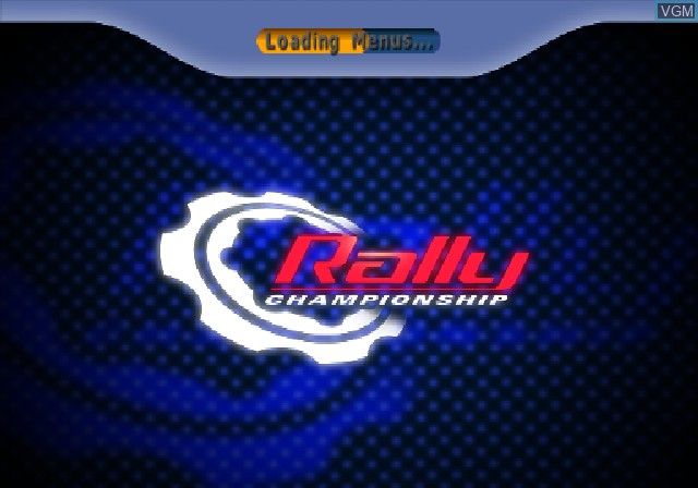Title screen of the game Rally Championship on Sony Playstation 2