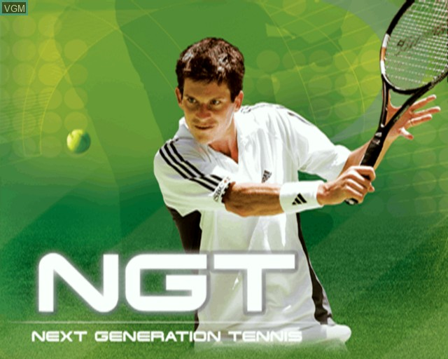 Title screen of the game Roland Garros French Open 2002 on Sony Playstation 2