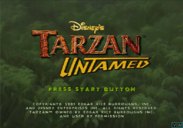 Title screen of the game Tarzan Untamed on Sony Playstation 2