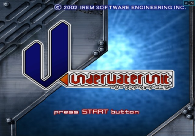 Title screen of the game U - Underwater Unit on Sony Playstation 2