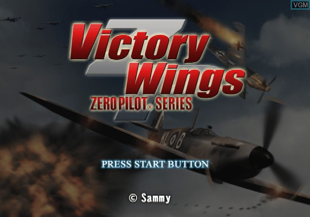 Title screen of the game Victory Wings - Zero Pilot Series on Sony Playstation 2