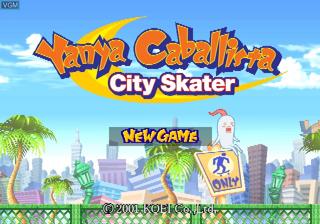 Title screen of the game Yanya Caballista - City Skater on Sony Playstation 2