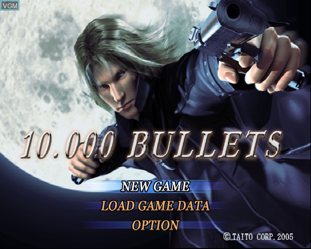 Menu screen of the game 10,000 Bullets on Sony Playstation 2
