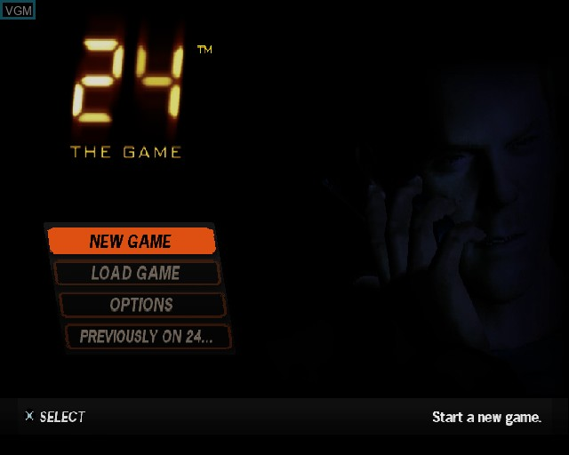 Menu screen of the game 24 - The Game on Sony Playstation 2