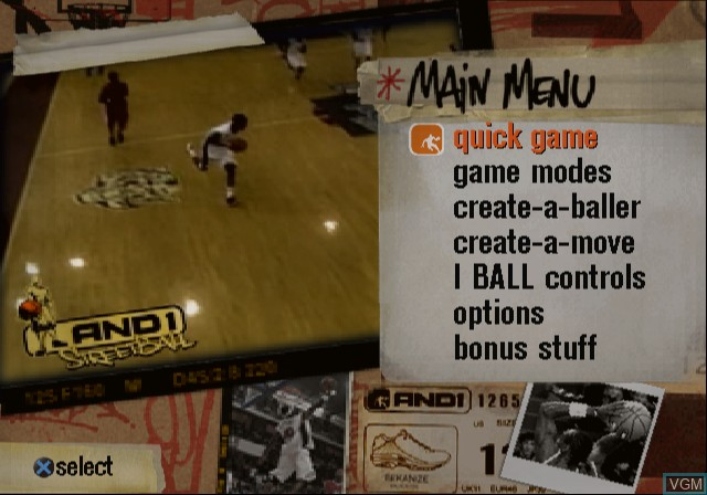 Menu screen of the game A-Train 6 on Sony Playstation 2