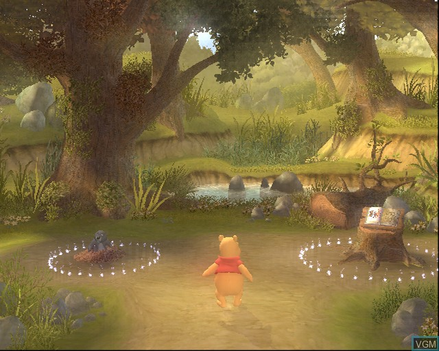 Menu screen of the game Winnie the Pooh's Rumbly Tumbly Adventure on Sony Playstation 2