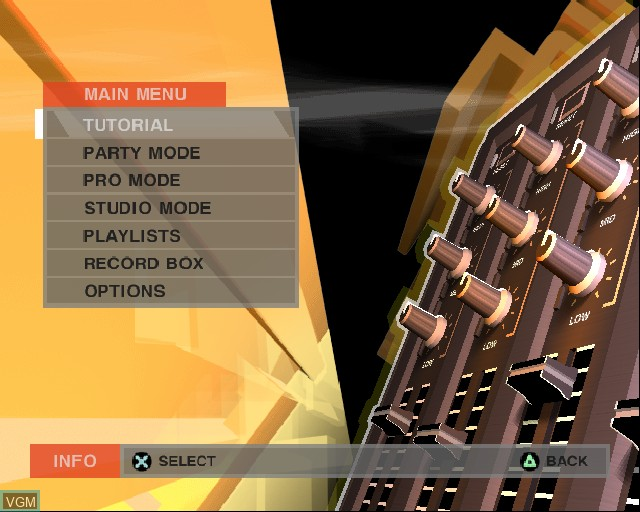DJ - Decks & FX for Sony Playstation 2 - The Video Games Museum
