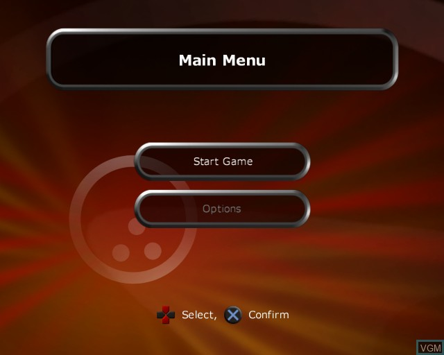Menu screen of the game Alan Hansen's Sports Challenge on Sony Playstation 2