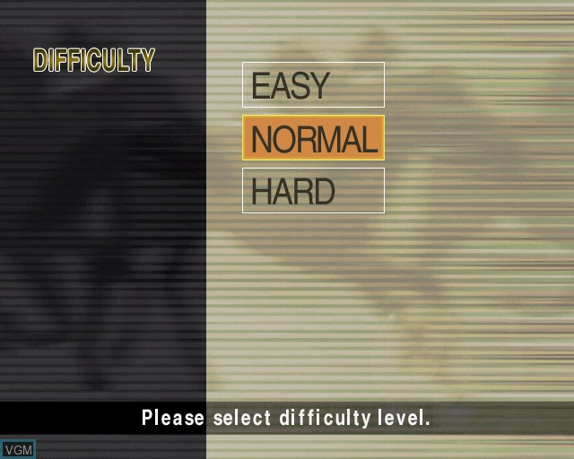 Menu screen of the game G1 Jockey on Sony Playstation 2