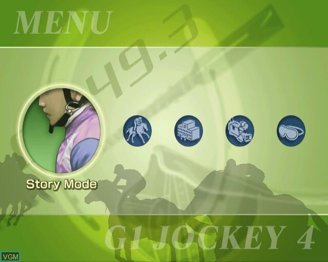 Menu screen of the game G1 Jockey 4 on Sony Playstation 2