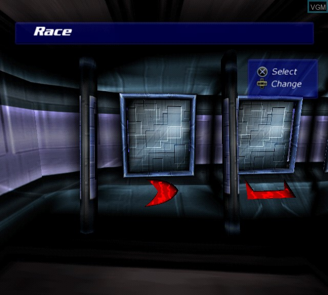 Menu screen of the game G-Surfers on Sony Playstation 2