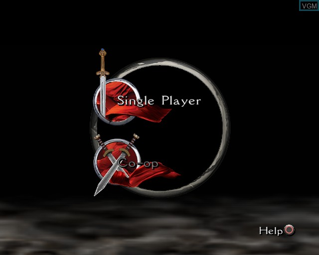 Menu screen of the game King Arthur on Sony Playstation 2
