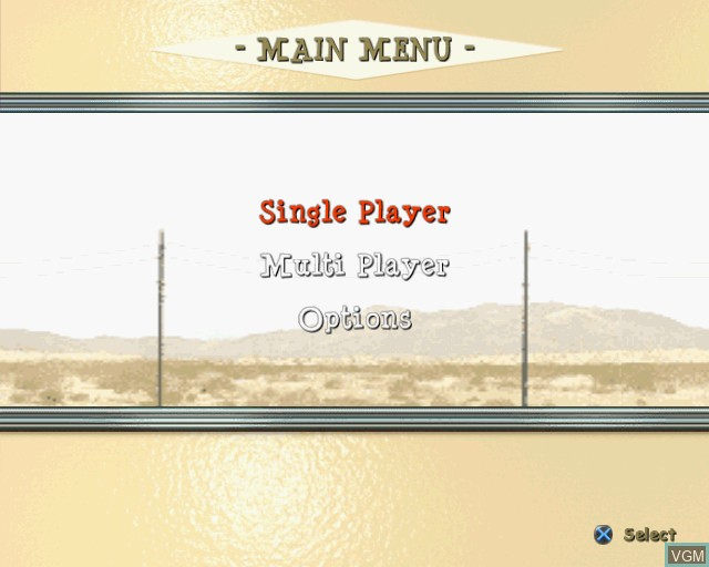Menu screen of the game King of Clubs on Sony Playstation 2