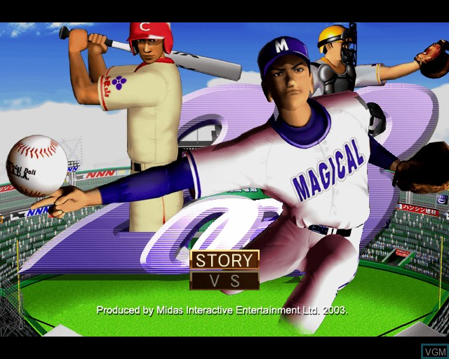 Menu screen of the game League Series Baseball 2 on Sony Playstation 2