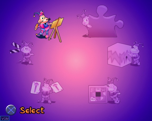 Menu screen of the game Legend of Herkules on Sony Playstation 2