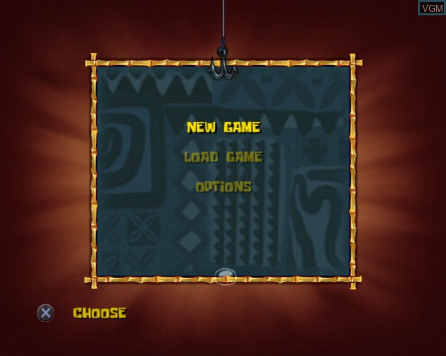 Menu screen of the game SpongeBob SquarePants Movie, The on Sony Playstation 2