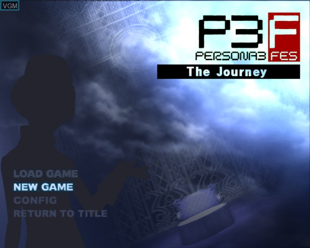 Menu screen of the game Shin Megami Tensei - Persona 3 FES on Sony Playstation 2