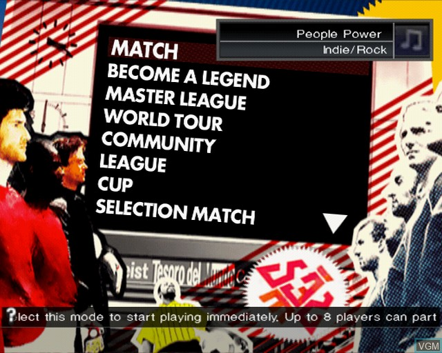 Menu screen of the game Pro Evolution Soccer 2009 on Sony Playstation 2