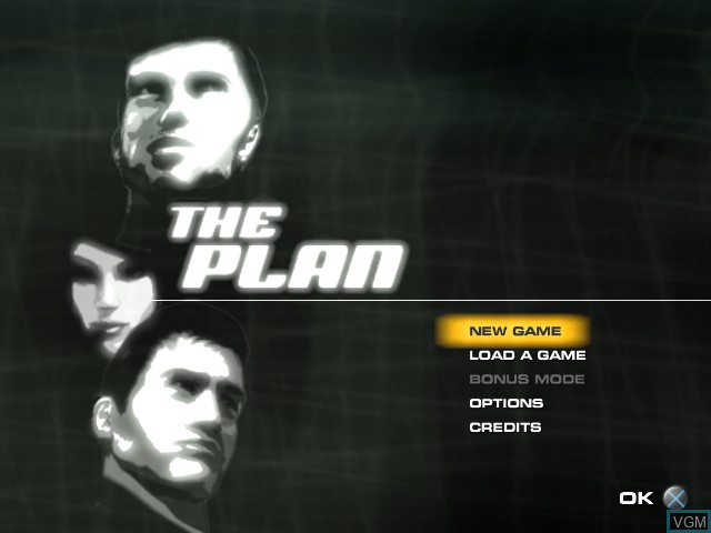 Menu screen of the game Plan, The on Sony Playstation 2