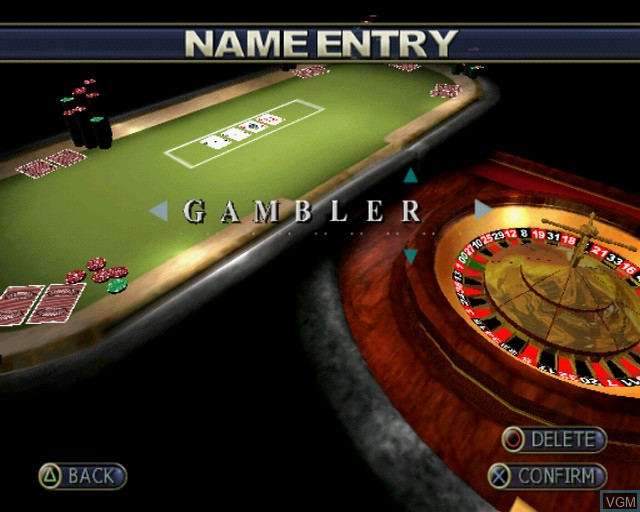 Menu screen of the game Playwize Poker & Casino on Sony Playstation 2