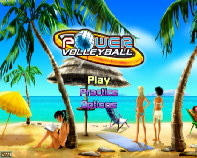 Menu screen of the game Power Volleyball on Sony Playstation 2